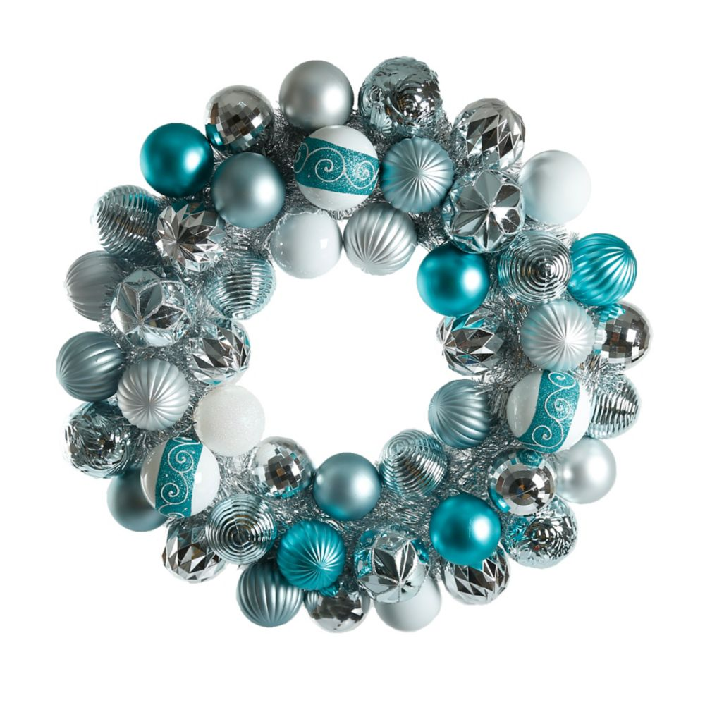 24 Inch Winter Wishes Ornament Wreath