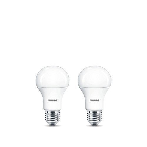 100W Equivalent Daylight (5000K) A19 LED Light Bulb (2-Pack)