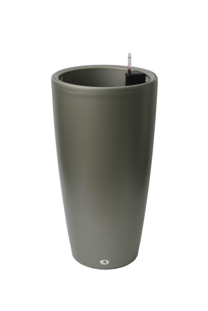 22205 Self Watering Round Modena, 30-Inch, Mat Granite