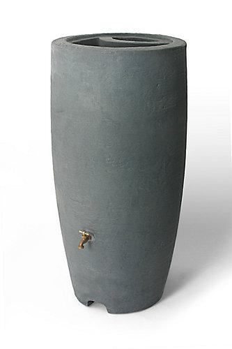 Athena 80 Gal Rain Barrel With Br Spigot In Charcoalstone