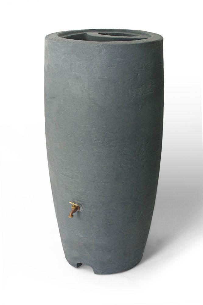 Baril de pluie décoratif Athena 303 litres (80 gallons) avec jardinière intégrée -  Charcoalstone