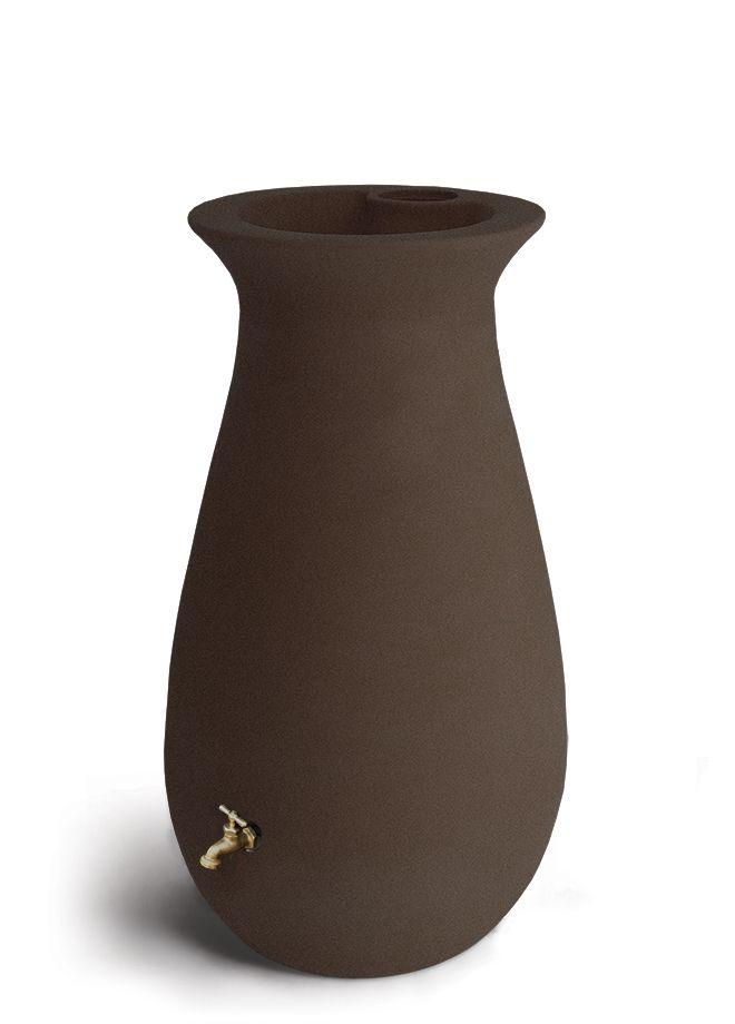 Baril de pluie décoratif EcoCascata 246 litres (65 gallons) avec jardinière intégrée -  Grès Brun
