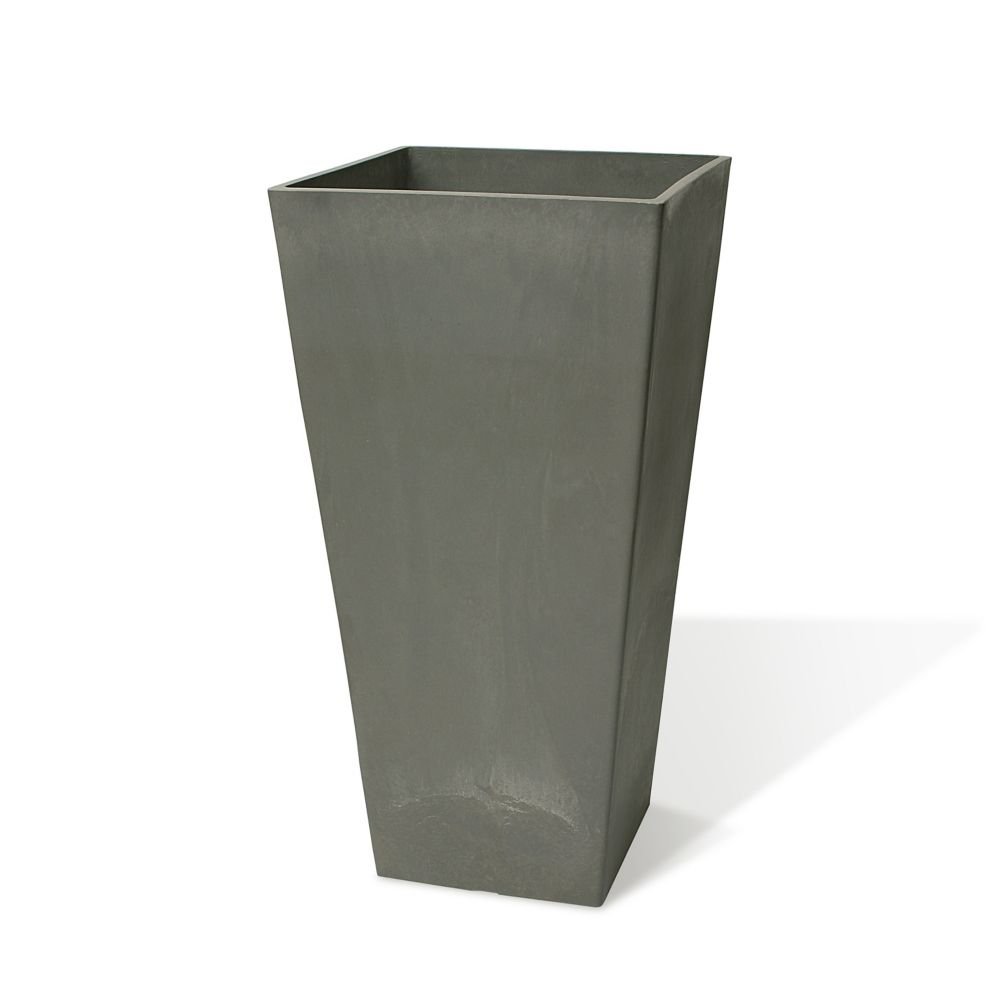 Algreen Products Valencia 16 1/4-inch x 31 1/2-inch H Square Planter in Charcoal