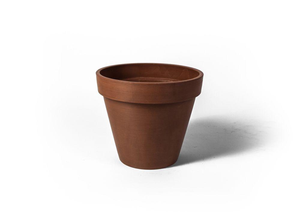 Pot de jardinière rond Valencia Algreen, 13,75 po x 12po, Texturé Terre Cuite