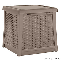 1.7 cu. ft. Resin Side Table Deck Box in Taupe