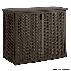 13 cu. ft. Resin Wicker Outdoor Cabinet Deck Box