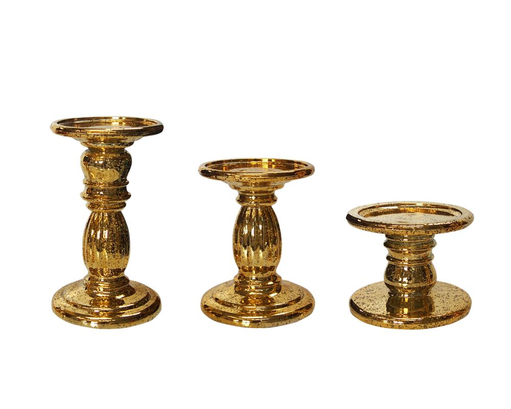 3-Piece Pedestal Candle Holders