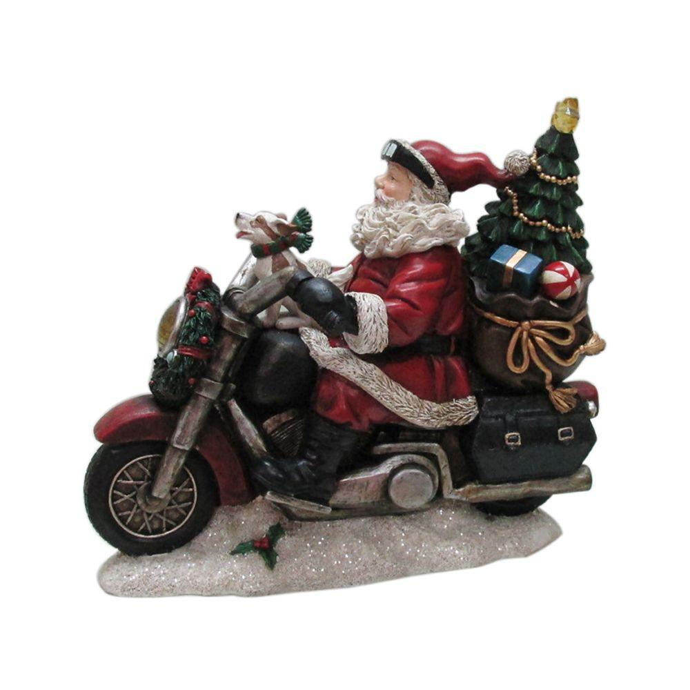 Père Noël Del Sur Un Vélomoteur De 25,4cm
