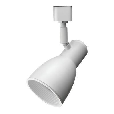 Tête à déflecteur étroite et blanche à1lampe déclairage sur rail