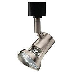 1-Light Brushed Nickel Halogen Track Lighting Head