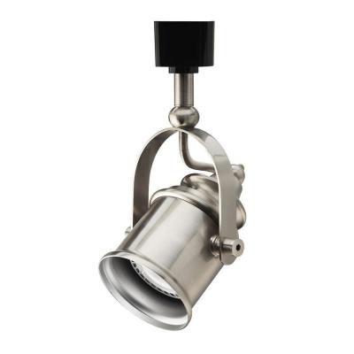 Track Lighting 1 Light Brushed Nickel Spot Light Style Head - LED