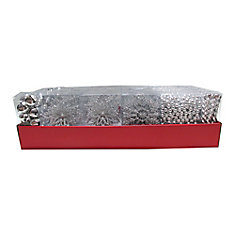 27pcs Multi Pack Ornaments Assorted - Silver (Price Per Item)