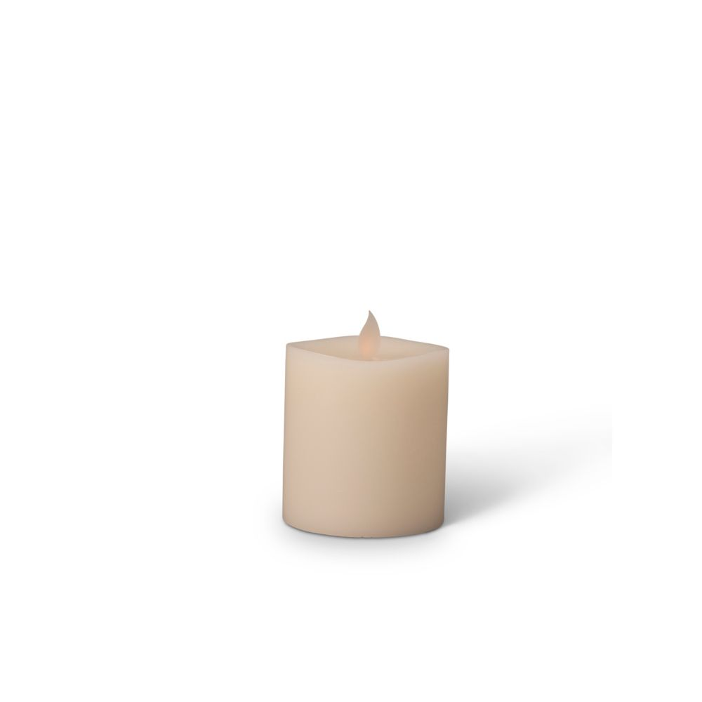 LED Candle 3x4 Inch Moving Flame