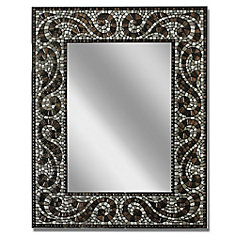 22 x 28 Espresso Mosaic Mirror