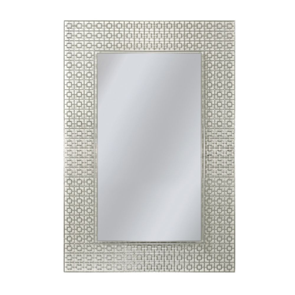 Thd beveled edge wall mirror 30 in x 42 in the home for Espejos de cuerpo completo vintage