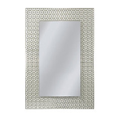 23.5 x 29.5 Etched Geometric Mirror