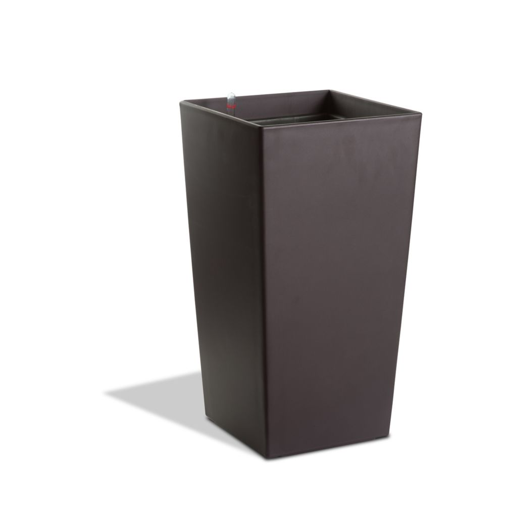 11104 22-inch Self-Watering Square Modena Planter in Matte Mocha
