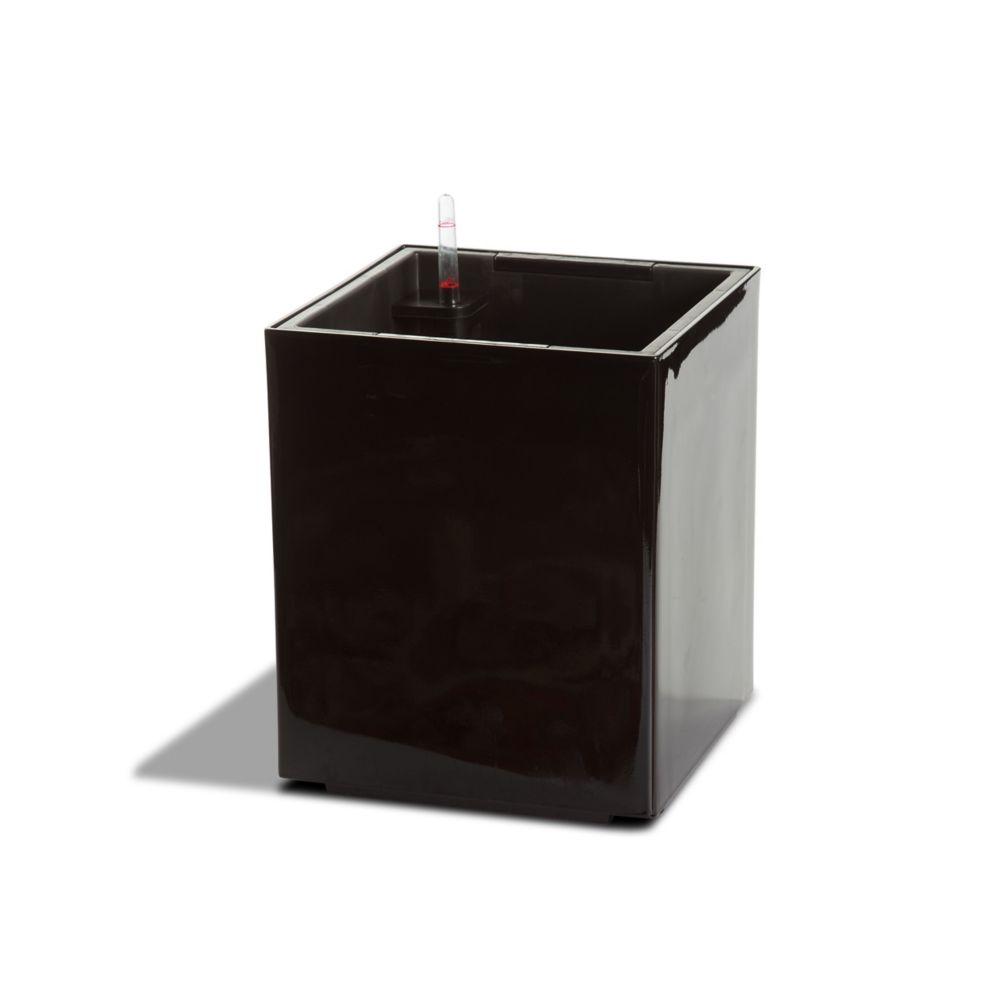 12301 Self Watering Modena Cube Planter - Gloss Black