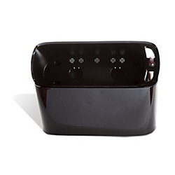 Algreen Products 15305 Self-Watering Modena Windowsill Planter and Herb Garden in Glossy Black