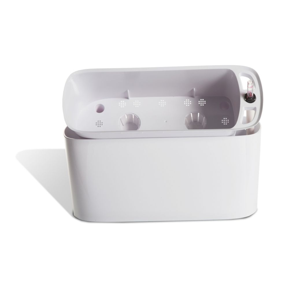 Algreen Products 15405 Self-Watering Modena Windowsill Planter and Herb Garden in Glossy White