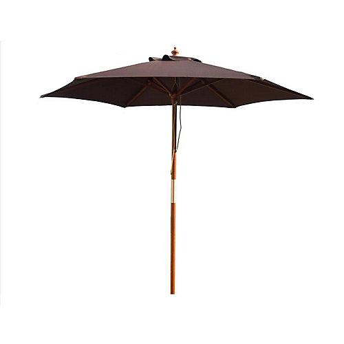 Parasol en bois de 9 pieds