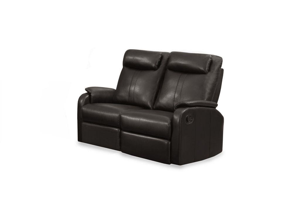 Reclining - Brown  Bonded Leather Love Seat