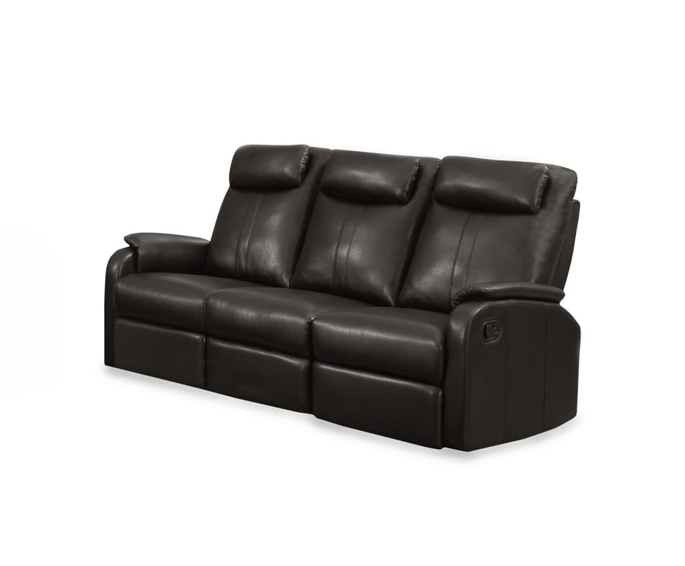 Reclining - Brown Bonded Leather Sofa