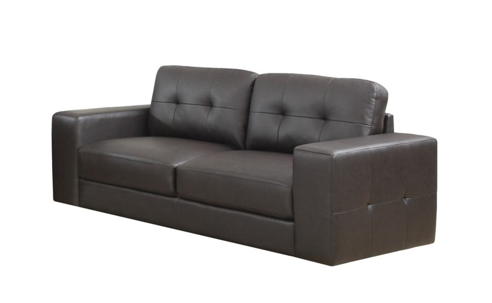 Sofa - DARK Brown Bonded Leather