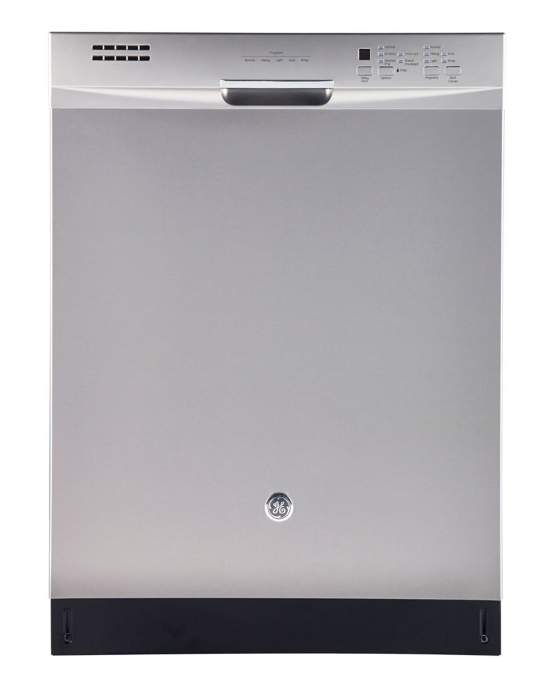 """24"""" Front Control Built-In Tall Tub Dishwasher with Stainless Steel Tub and Steam Cleaning, 49 dB..."""