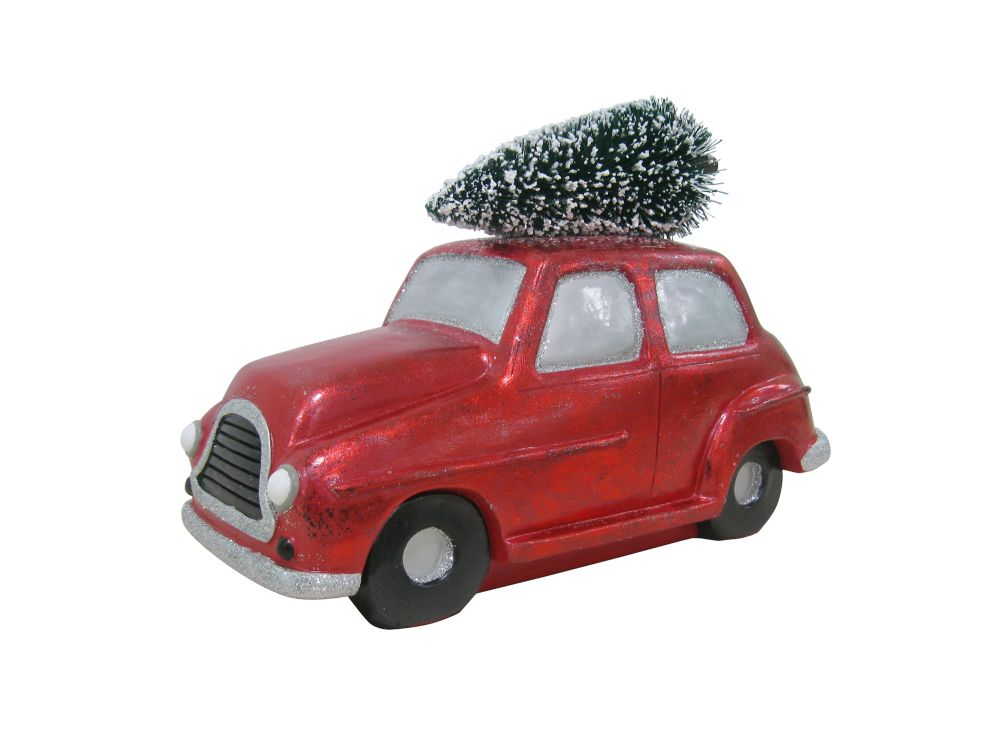 8 Inch Truck With Presents Table Decor-Cherry
