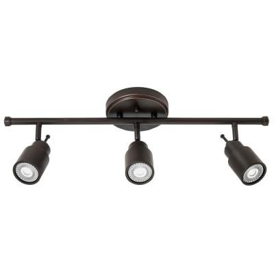 Track Lighting 24 Inch -3 Light Track Kit Oil Rubbed Bronze Fixed Head - LED