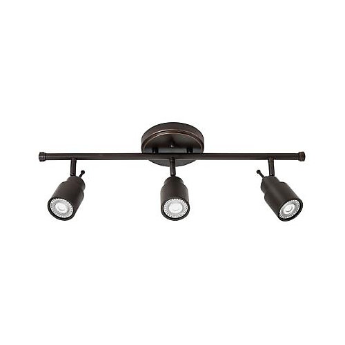 24-inch 3-Light LED Track Kit in Oil Rubbed Bronze with Fixed Head