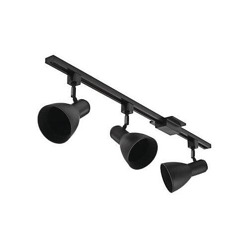 Track Lighting 44.5 Inch -3 Light Track Kit Black Wide Head - BR30