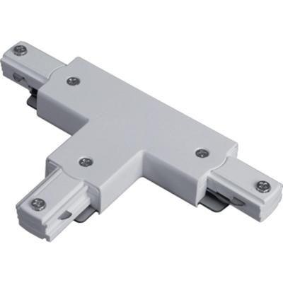 Connecteur en T déclairage sur rail � blanc avec couvercle noir