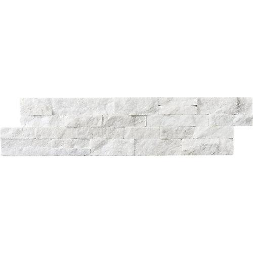 6-inch x 24-inch Arctic Bianco Ledgerstone