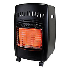 18,000 BTU Portable Propane Gas Cabinet Heater in Black