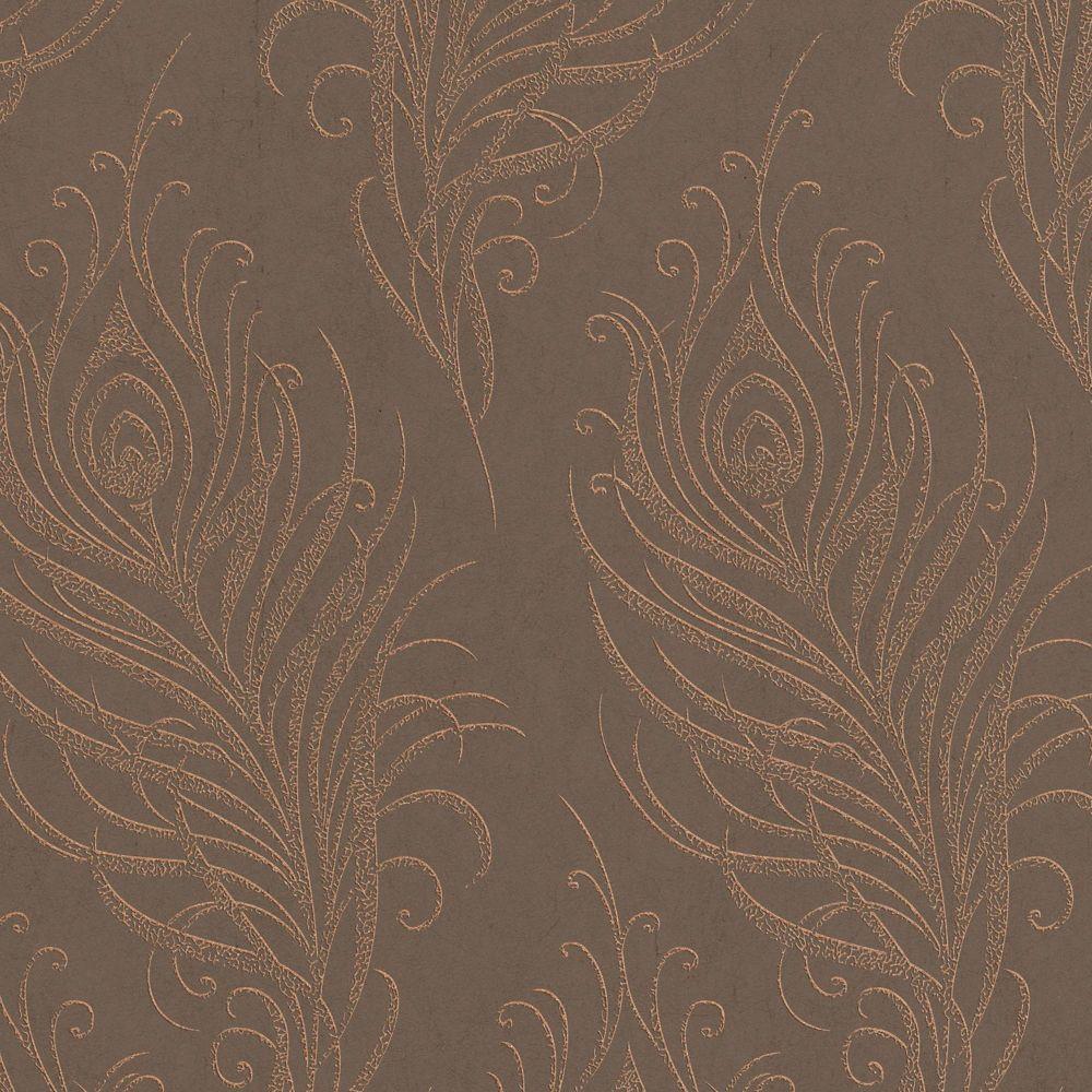 Plume Artisan Papier Peint Cuivre