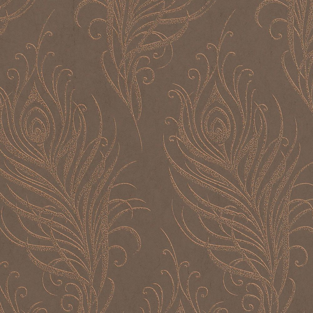 Quill Copper/Brown Wallpaper