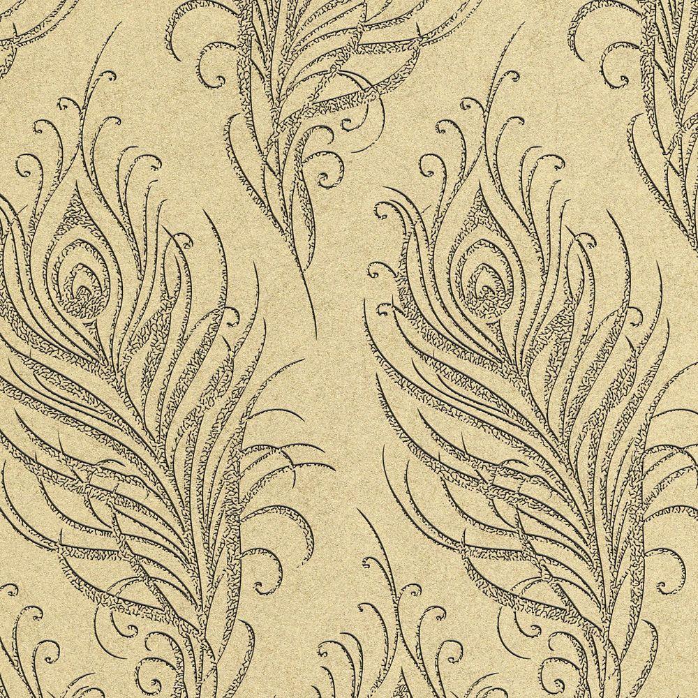 Quill Gold/Blue Wallpaper