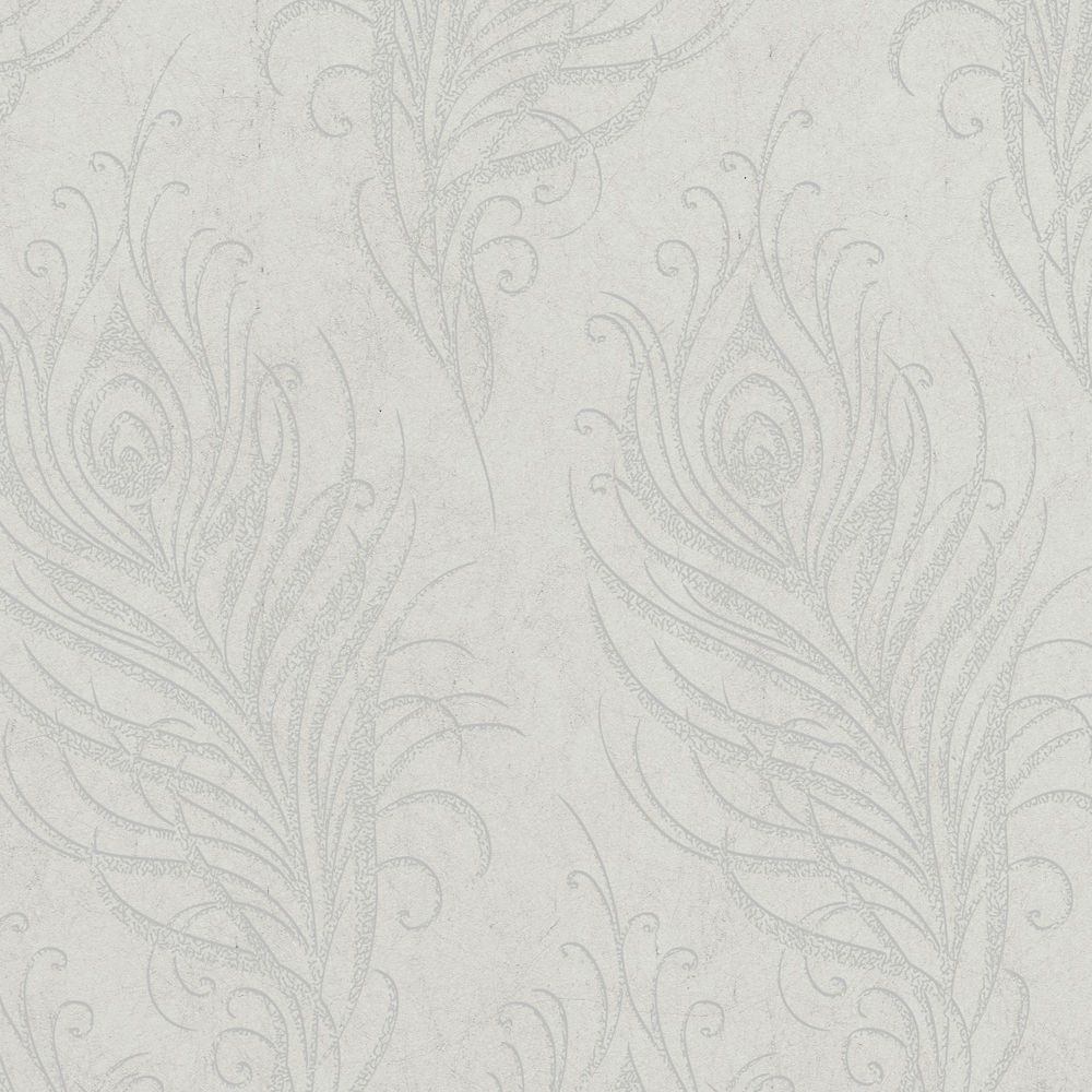 Quill Grey/Silver Wallpaper