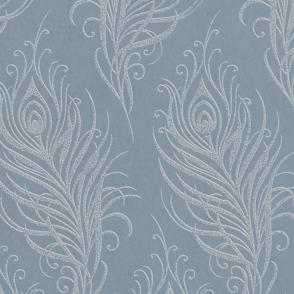 Quill Blue/Silver Wallpaper