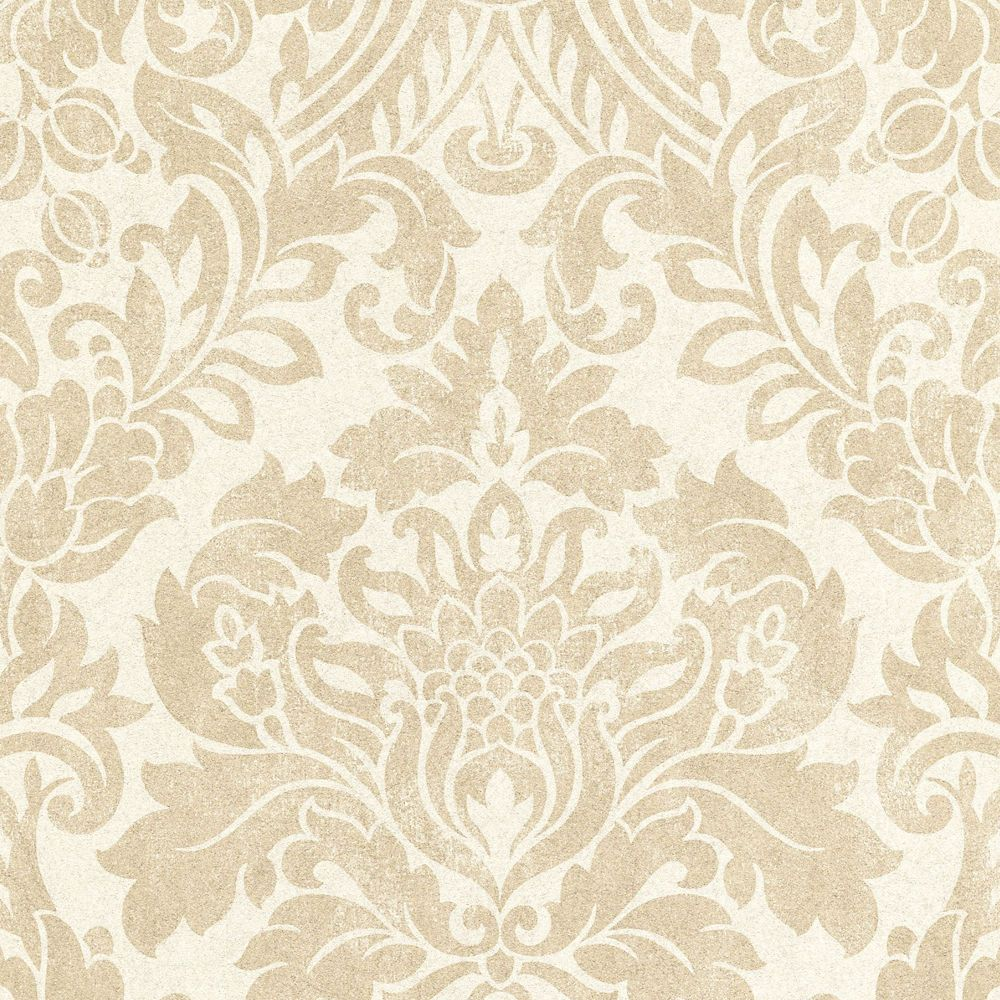 Gloriana Oyster/Gold Wallpaper