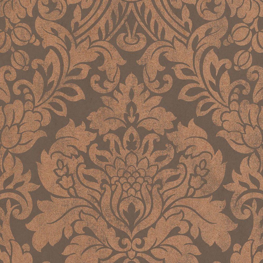 Gloriana Copper/Brown Wallpaper