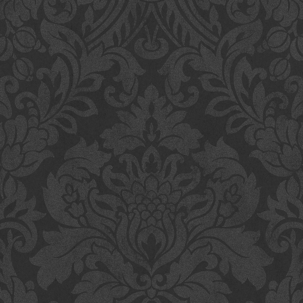 Gloriana Black Wallpaper