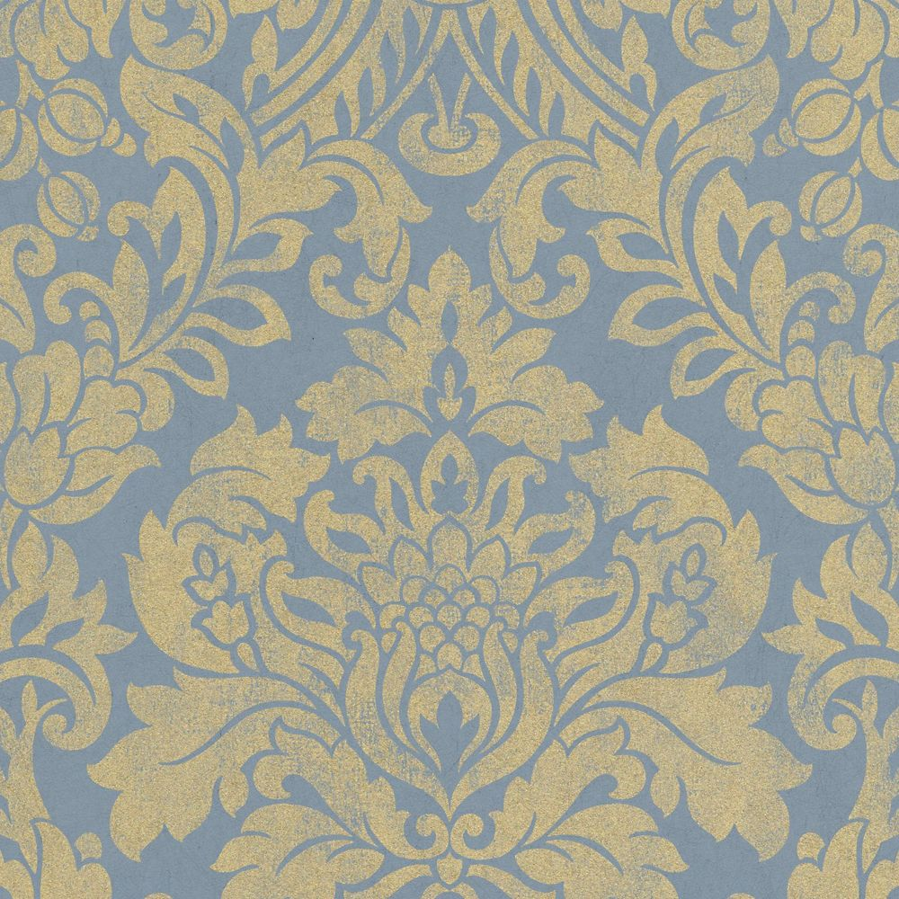 Gloriana Blue Artisan Wallpaper