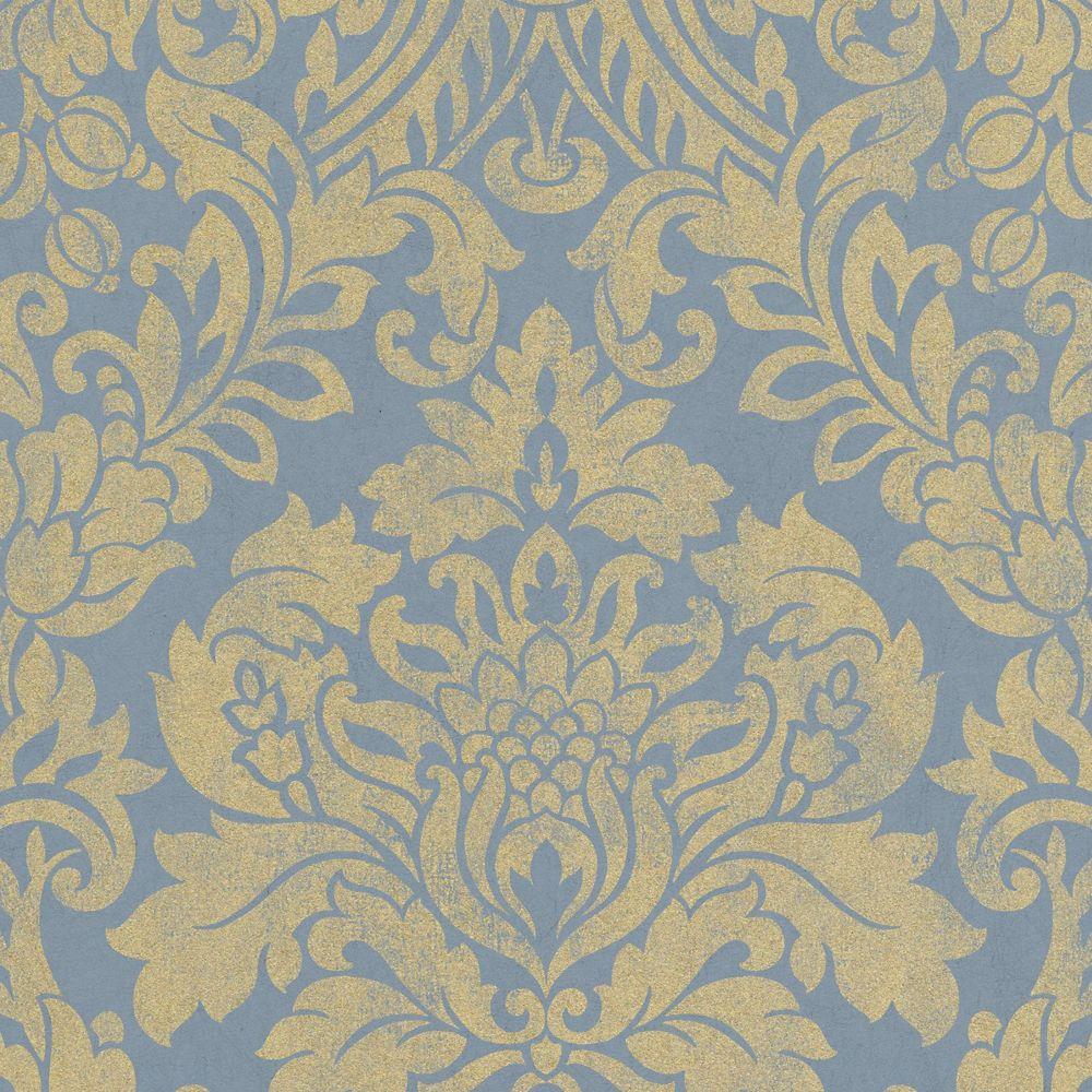 Graham Brown Blue Gloriana Wallpaper