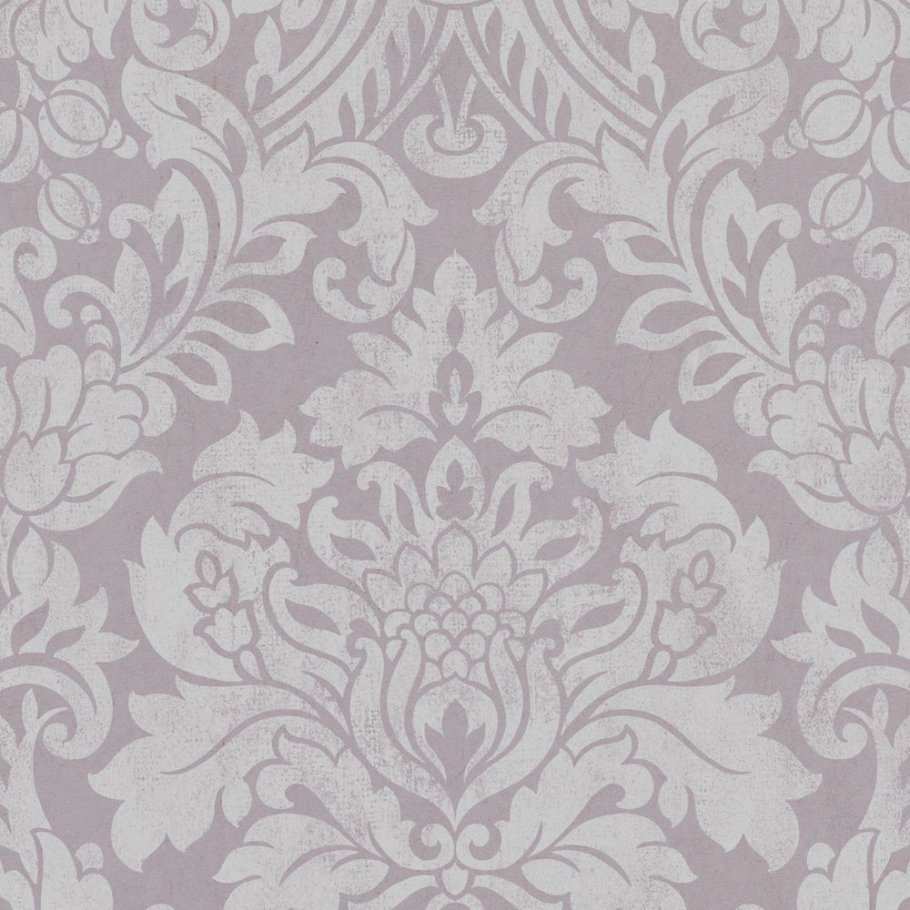 Gloriana Mulberry/Silver Wallpaper