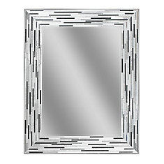 23.5 x 29.5 inch Reeded Charcoal Tile Mirror