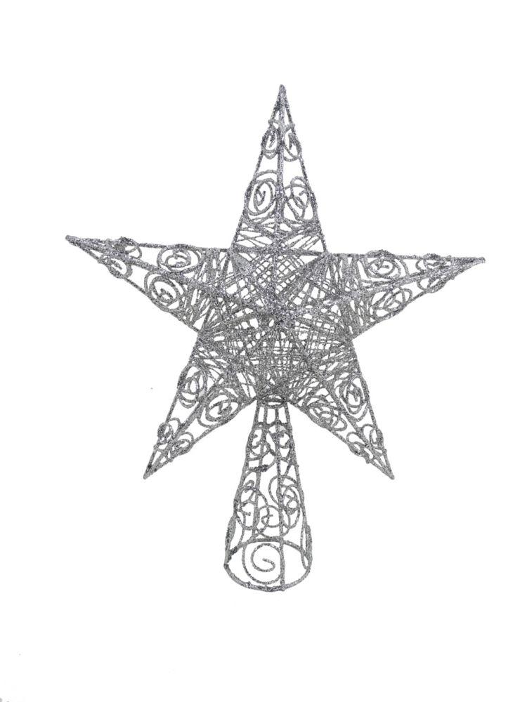 15 Inch Metal Star Tree Topper