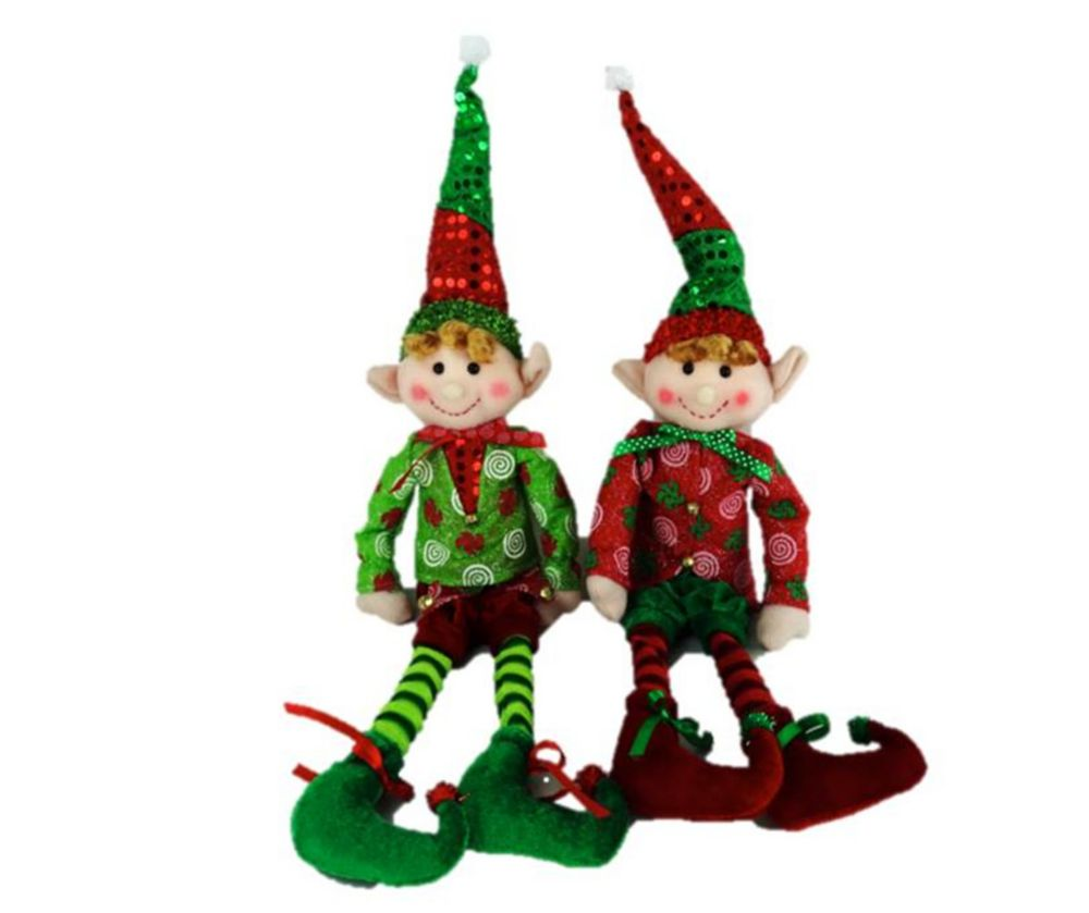 18 Inch Plush Elf On The Shelf (Asst 2 Colors)